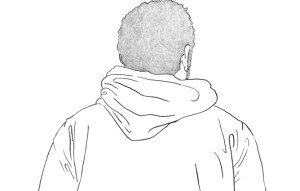 how to draw a hoodie back
