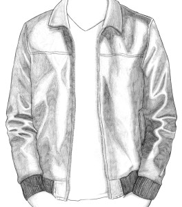how to draw a leather jacket