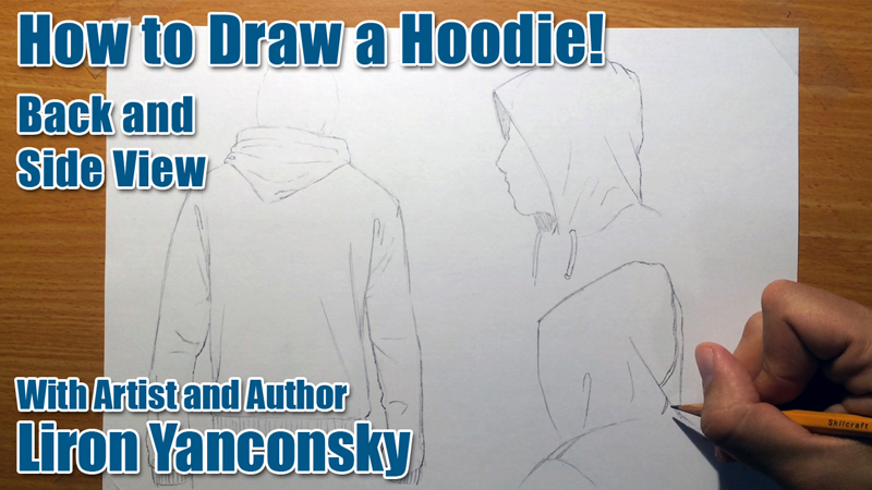 How to Draw a Hoodie: Back and Side View