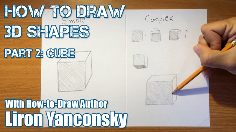 How to Draw a 3D Cube!