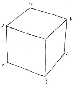 How to draw a 3d cube