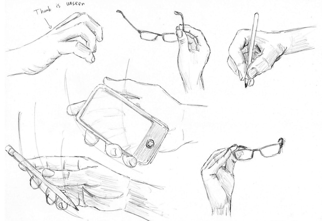 how to draw hands poses