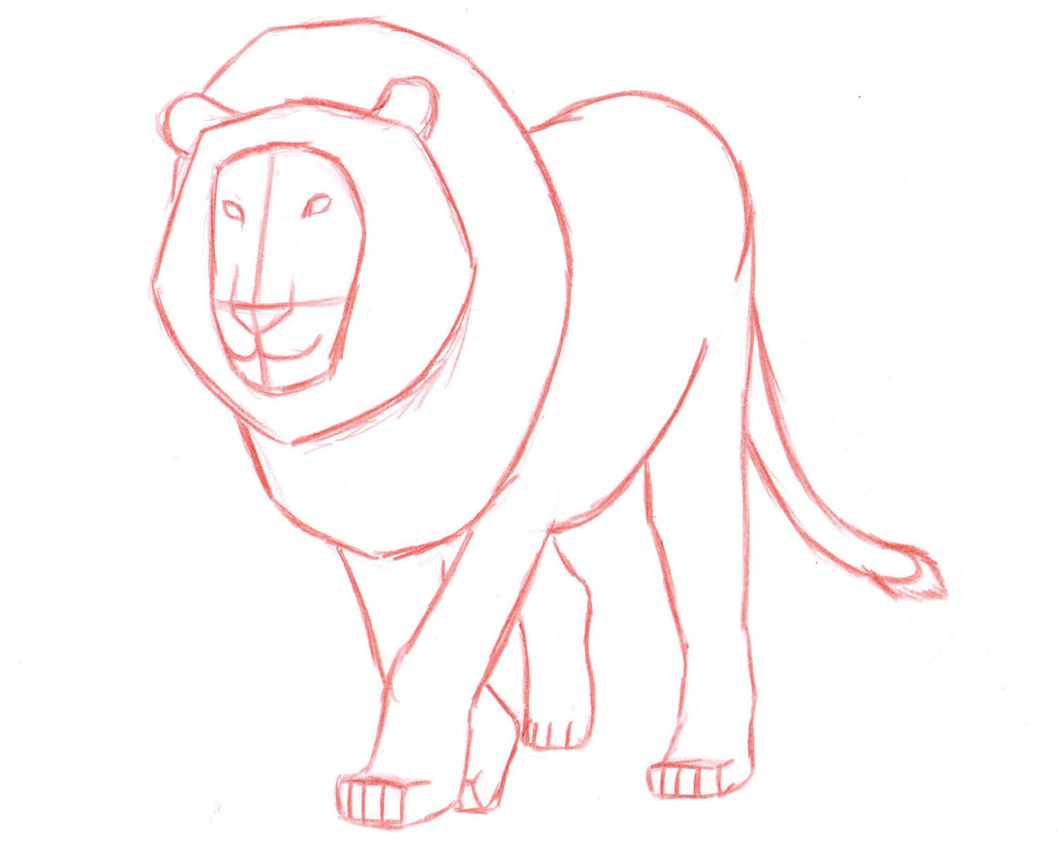 Uncategorized How To Draw A Lion Head Step By Step how to draw a lion step by liron yanconsky step