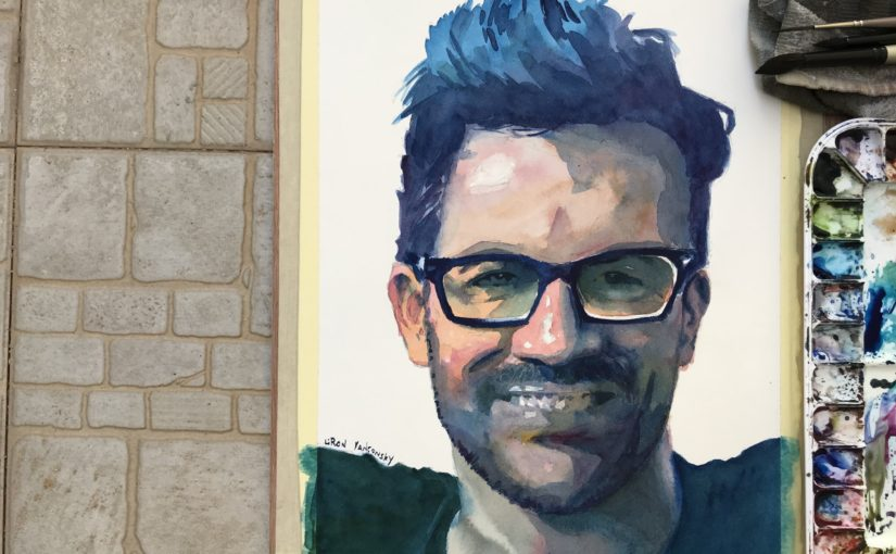 Tutorial | Watercolor Portrait Painting in 3 Colors – Tai Lopez