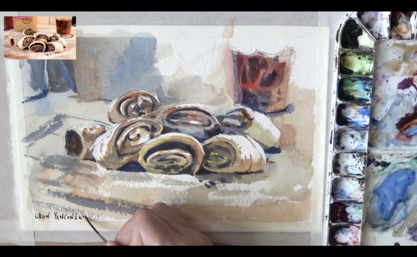 How to Draw for a Painting – Still-Life Watercolor Painting Process