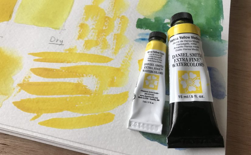 Hansa Yellow Medium Daniel Smith Watercolors Review